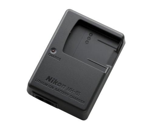 Nikon MH-65 Caricabatteria con Alimentazione CA per Batteria agli Ioni di Litio EN-EL12, Nero