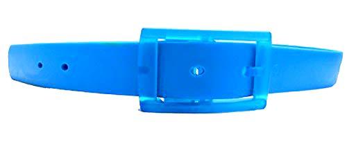 neon Silikon Gürtel einstellbare Längen - Farbe wählbar (BLAU) -
