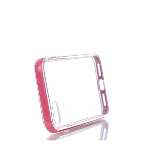 BONROY® TPU Schutzhülle für iPhone 7 (4,7 Zoll) Silikon Handyhülle Case,TPU transparent ultra-slim Weiche Zurück Tasche Etui Bumper Kratzfeste Telefon-Kasten Schutz Etui Bumper für iPhone 7 (4,7 Zoll) rot