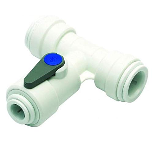 Push-fit Pipe Fittings (Angle Stop Valve 1/4 Water Feed Connector 15mm Push fit John Guest ASV3 by John Guest)