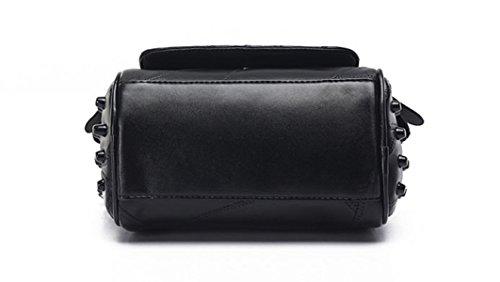 ZPFME Schultertaschen Mode Kollokation Party Retro Damen Bankett Mode Handtaschen Damen-Taschen Geschenke Black