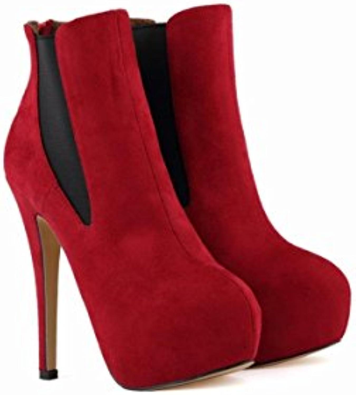 NVXIE Damen Neue Kurze Stiefel Stilett High Heel Nike Dunk Sky Hallo Schuhe Martin Stiefel Plattform Runde Kopfö