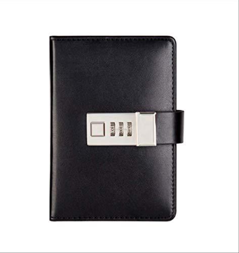 Password Notebook Carta Bloccante Libro portatile Pu Leather Diary Lock Traveler Journal Weekly Planner School Articoli di cancelleria