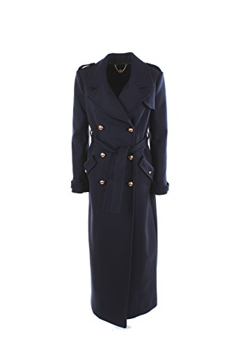 Cappotto Donna Elisabetta Franchi 42 Blu Cp5224172 Autunno Inverno 2016/17