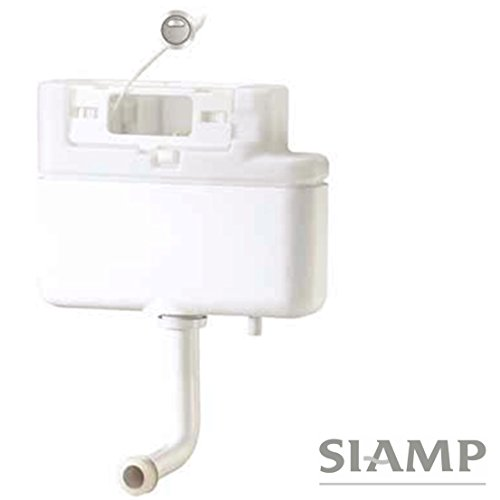 Siamp Intra Built in Concealed Bottom Inlet Back to Wall Cistern 31014710 Complete with Push Button by SIAMP