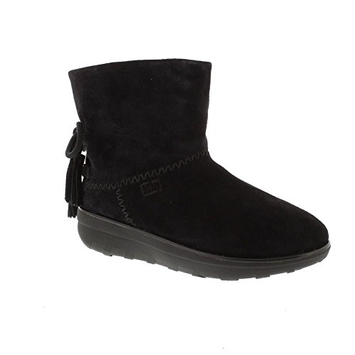 Fitflop Mukluk Boots (FitFlop Mukluk Shorty 2 Boot With Tassels - Black 7 UK)