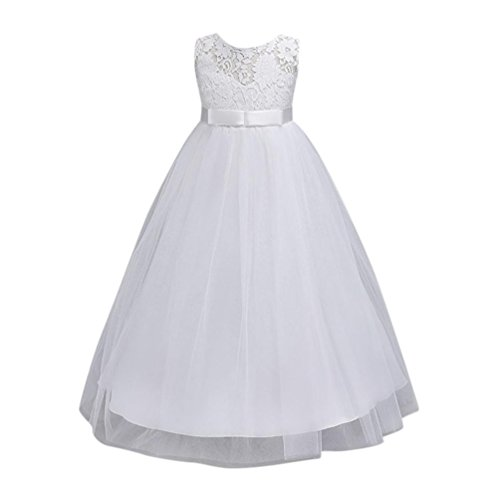 Solike Mädchen Kinder Kleid Blumenmädchen Kleid Brautjungfern Hochzeitskleid Festlich Festzug...