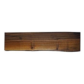 Wandregal mit Baumkante – Nussbaum – 80 cm x 18 cm x 3,2 cm