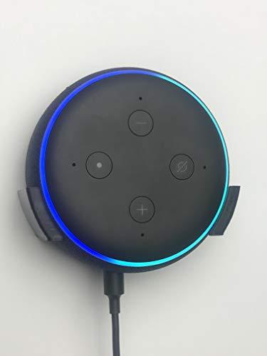 Echo Dot 3ème génération Support Mural Plat : Noir