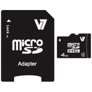 V7 VAMSDH4GCL4R-2E V7 Micro tarjeta de 4 GB SDHC Clase 4 + ...