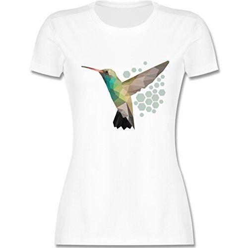 Shirtracer Vögel - Colibri - Damen T-Shirt Rundhals Weiß