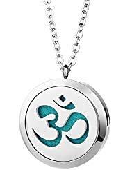 JOYMIAO Diffusor Halskette für Frauen Aromatherapie ätherisches Öl Anhänger Medaillon 24