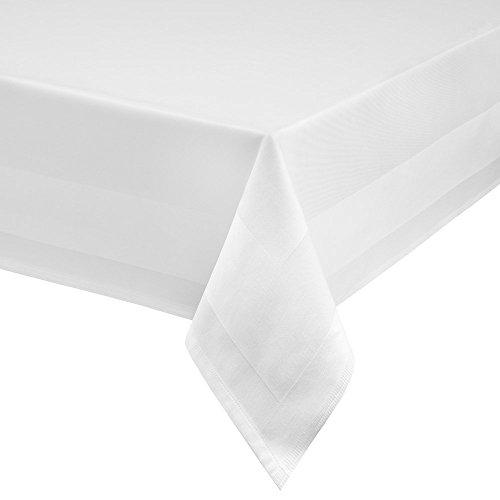 Damasco Mantel Blanco atlas borde 95°C lavable-tamaño