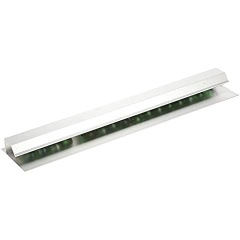 Anself Pinza de papel de pared de aluminio para archivos menú entradas recibos de oficina cocina bar