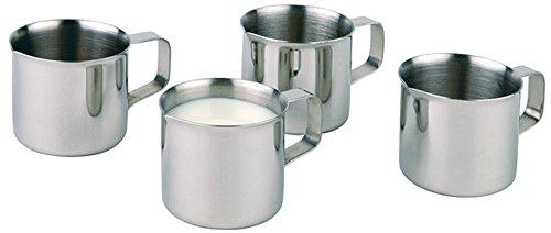 APS 4er Set Edelstahl Mini Milchkanne/Milchkännchen mit Griff, Durchmesser 3,6 cm, Höhe 3,5 cm, je 25 ml Inhalt thumbnail