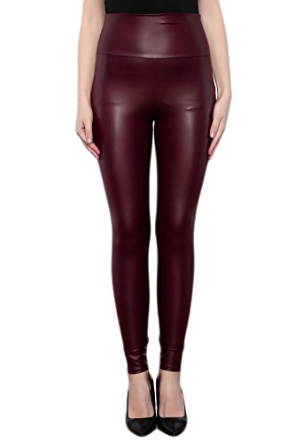 8683e8004e9ead SODACODA® Ladies High Waist Stretch Faux Leather - Tight Leggings - wet look  all colours