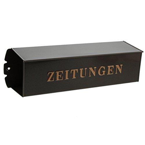 BURG-WÄCHTER, Zeitungsbox mit geprägeter Schrift, Metall, 808 K, Kupfermetallic - 5