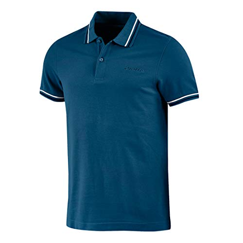 lotto polo uomo t-shirt piquet cotone mare tennis barca calcio sport l73 pq i (1cg gem blue/navy blue, xl)