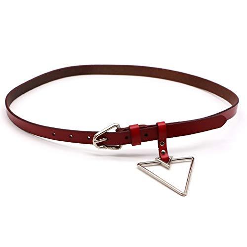 NewFashion Solid Dreieck Anhänger Pu Damen Gürtel Heißer Verkauf Trendy Frühling Lässig, Rot