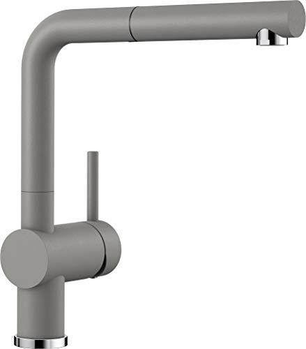Blanco Linus-S, Küchenarmatur - Einhebelmischer mit ausziehbarer Schlauchbrause, alumetallic, Hochdruck, 1 Stück, 516689 - 12mo Einem Stück
