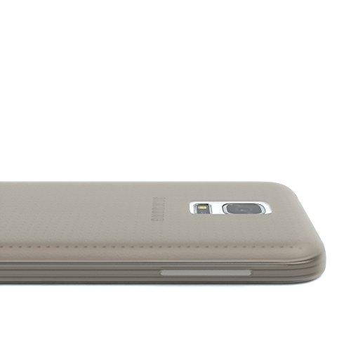 """EAZY CASE Handyhülle für Samsung Galaxy S5 Mini Hülle - Premium Handy Schutzhülle Slimcover """"Clear"""" hochwertig und kratzfest - Silikon Backcover in Schwarz / Anthrazit Matt Hellgrau"""