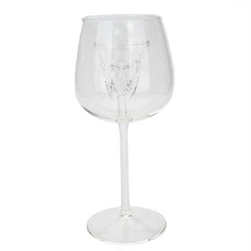 BESTONZON Schädel Kopf Weinglas, Burgunder Rotweinglas, Schädel Becher Skeleton für Wodka Whisky Cocktail Halloween (Halloween Wodka Cocktails)