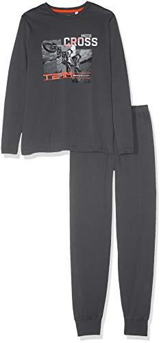 Sanetta Jungen Zweiteiliger Schlafanzug Pyjama Long Grau (Shark 1397) 176 (Shark Jungen Schlafanzug)