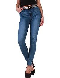 3dc4016a15ff1a Black Denim BD Damen Hight Waist Stretch Röhren-Jeans-Hose Hochschnitt in  blau mit…