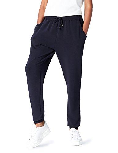 FIND Jogginghose Damen aus Jersey, mit schmal zulaufendem Bein, Taschen und Tunnelzug, Blau (Navy), 34 (Herstellergröße: X-Small)