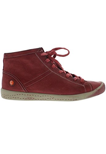 Softinos Isleen, dames haute sneaker top Rouge