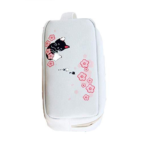 Carry stone 1 stücke Federmäppchen Stift Student Supplies Große Kapazität Bleistiftbeutel Kreative Einfache Make-Up Tasche Kirschblüte Katze Weiß Langlebig und Praktisch - Schablone Richtung 1