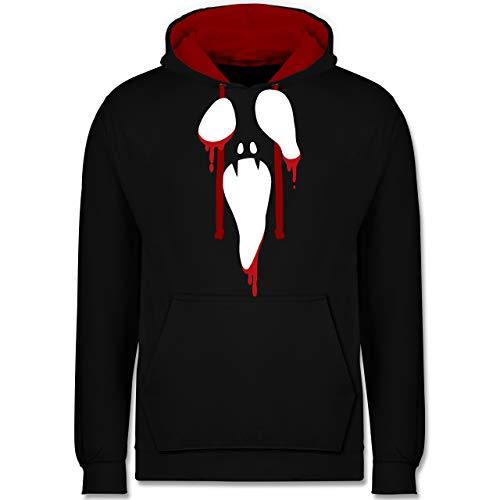 Shirtracer Halloween - Scream Halloween - 5XL - Schwarz/Rot - JH003 - Kontrast ()