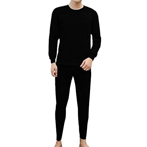 Set de Ropa Térmica para Hombre Ropa térmica Deportiva Transpirable para Hombre Set de Ropa Interior Termal de Hombres Remera Manga Larga & Pantalones Largos