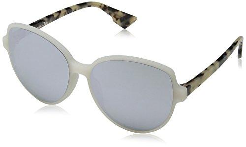 Dior Damen DIORONDE2 DC X61 Sonnenbrille, Weiß (Mtwhite Havana/Extra White Marl), 58