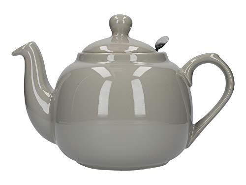 London Pottery Théière avec Filtre 2 Tasses Vert, Céramique, Gris, 4 Cup