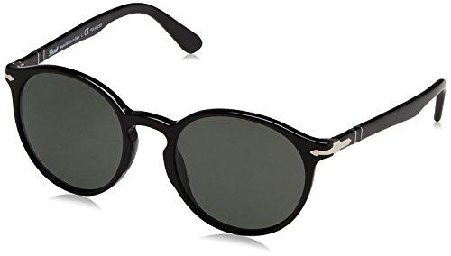 Persol Herren 0Po3171S 95/58 52 Sonnenbrille, Schwarz (Black/Crygreenpolarized),