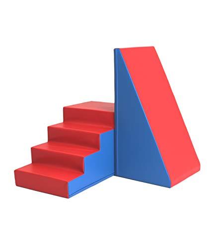 *IGLU XXL Softbausteine Riesenbausteine Treppe und Rutsche – Blau Rot*
