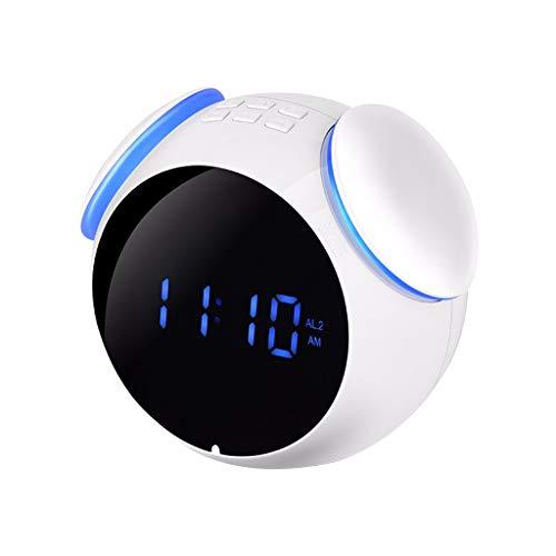 LRWEY Wireless Bluetooth Lautspreche, Spiegel Digital Wecker Tragbare Drahtlose Bluetooth Lautsprecher MP3 FM Radio