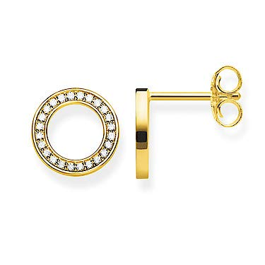 Thomas Sabo SCH150268 Ohrstecker Damen Kreis Silber Gold-Ton -