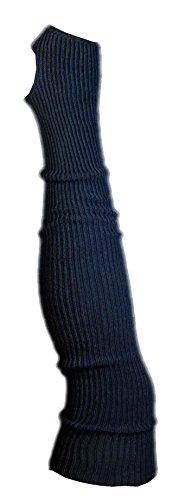 AVIDESO Stulpen Damen Overknee + Fersenloch - Overknees Beinlinge Strick Flauschig Weich Legwarmer Tanzstulpen Mädchen schwarz - Breite Breite Oberschenkel Hohe Stiefel