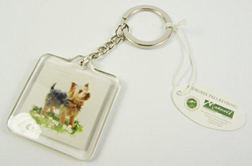 Preisvergleich Produktbild Macneil PedigreePals Schlüsselanhänger, Motiv: YorkshireTerrier, inkl. Schlüsselring, 5x5cm