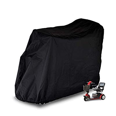 m zimoon Mobility Scooter Cover,Heavy Duty Disability Mobility Waterproof Covers with Draw String and Storage Bag to Prevent Rain Wind Dust Sun UV,170x61x117cm