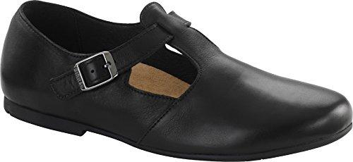 """Birkenstock """"Tickel cuir naturel Black-Ballerines femme-733341-Normaux Pied Lit Noir - Noir"""