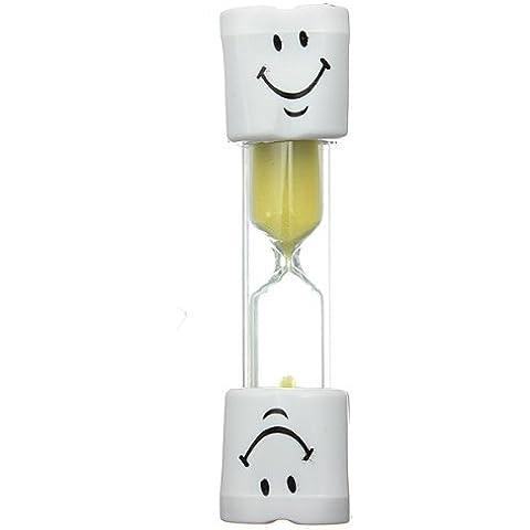 Peily Bambini Smiley Timer Spazzolino clessidra 2 Minutes (Giallo)