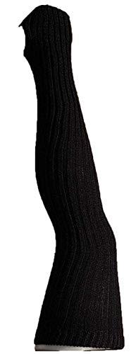 Damen Stulpen Formstabil Schwarz 92cm 1 Paar Beinwärmer Extralang Oberschenkel / Overknee - Ballettstulpen Fersenloch
