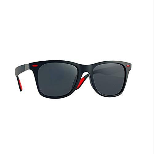 Aukcherie unisex occhiali da sole polarizzati da sole effetto legno per uomo e donna lenti colorate a specchio o sfumate con protezione uv 400 (colore grigio nero)