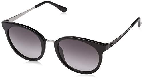 Guess Damen GU 7459 Sonnenbrille, Shiny Black/GRADIENT Smoke, 52