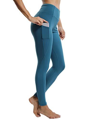 FITTOO Damen Sporthose Yogahose Elastische Laufhose Bauch Kontrolle Fitnesshose Sport Leggings