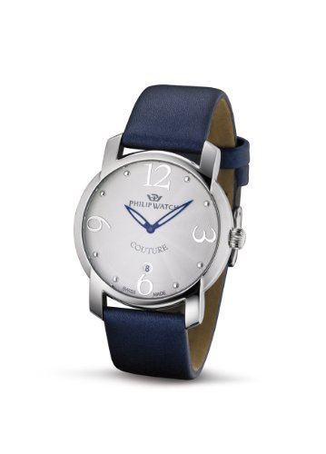 Philip Watch - R8251198515 - Montre Femme - Quartz Analogique - Bracelet Cuir Bleu