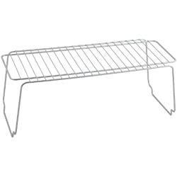 Metaltex 362000 - Estante apilable, 45 x 19 x 18 cm, color gris metalizado